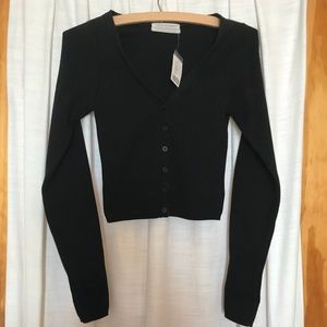 NWT urban outfitters black cropped cardigan